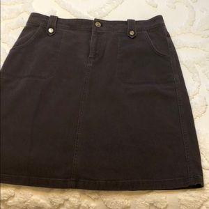 Brown Knee Skirt